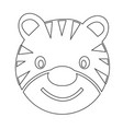 tiger face emotion icon sign design vector image