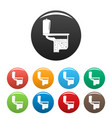 toilet equipment icons set color vector image vector image