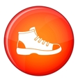 Tourist shoe icon flat style vector image vector image