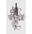 Wine and winetasting vector image vector image