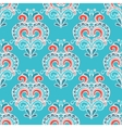 Winter seamless damask doodle design vector image vector image