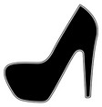 woman shoes the black color icon vector image vector image