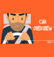 young man blogger giving car overview online vector image vector image