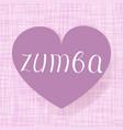 zumba dance vector image vector image