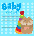 baby shower card vector image