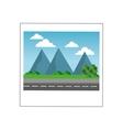 landscape photograph icon vector image