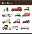 retro cars with amazing vintage design vector image