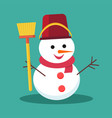snowman on background vector image