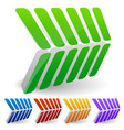 3d abstract arrow like shapes pointing right vector image vector image