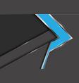 abstract blue arrow gray metal shadow design vector image
