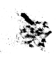 Abstract ink drops background Black and white vector image vector image