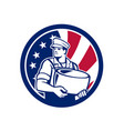 american artisan cheese maker usa flag icon vector image vector image