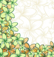 Background of transparent blend flowers design vector image vector image