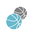 baketball icon on white background for graphic and vector image vector image