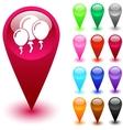 Balloons button vector image vector image