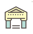 bank building icon for financial graphic design vector image