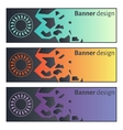 Banner design Collection of three beautiful vector image vector image