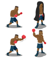 Boxer Strong Mighty Winner Sport vector image vector image