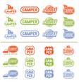 camper logo set vector image