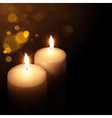 candles on a dark background vector image