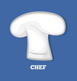 chef hat logo design 3d cookers cap white headwear vector image