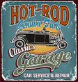 classic garage crack vector image vector image