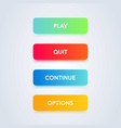 colorful button set web element vector image vector image