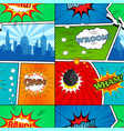comic book seamless pattern vector image vector image