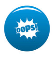 comic boom oops icon blue vector image