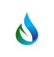 creative drop leaf symbol logo design symbol vector image vector image