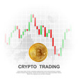 cryptocurrency trading background vector image vector image
