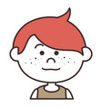 cute little boy character vector image