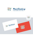 decoration lights logotype with business card vector image vector image
