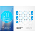 Desk Calendar for 2017 Year January Design Print vector image vector image