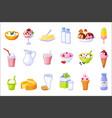 different dairy products assortment set of vector image vector image
