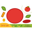 education paper game for children apple vector image vector image