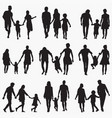 family 1 silhouettes vector image vector image