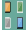 Flat collection of modern mobile phones vector image