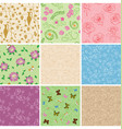 floral seamless patterns with flowers vector image vector image
