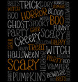 funny hand written halloween texts card vector image