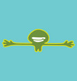 green smiley man want to hug vector image