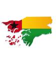 guinea bissau africa map flag vector image