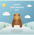 happy groundhog day design vector image