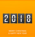 happy new year 2018 happy chinese new year vector image