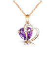 jewelry gold pendant heart made gemstone on a vector image vector image