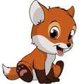 Little funny fox vector image vector image