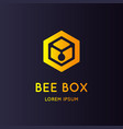 logo bee honey stylish and modern sign vector image vector image