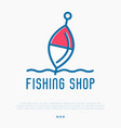 logo for fishing shop with float vector image