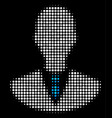 manager halftone icon vector image