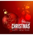 Merry Christmas and happy new year design template vector image vector image
